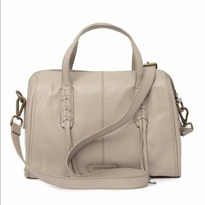 Lucky Brand NWT Leather Amber Satchel Chinchilla
